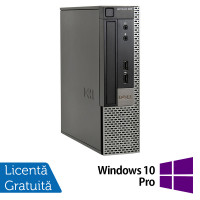Calculator Dell 990 USFF, Intel Core i5-2400s 2.50GHz, 4GB DDR3, 250GB SATA, DVD-RW + Windows 10 Pro