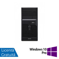 Calculator FUJITSU SIEMENS P3721 Tower, Intel Core i5-650 3.20GHz, 4GB DDR3, 250GB SATA, DVD-ROM + Windows 10 Pro