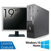 Pachet Calculator Fujitsu Esprimo E500 Desktop, Intel Core i7-2600 3.40GHz, 4GB DDR3, 320GB SATA, DVD-ROM + Monitor 19 Inch + Windows 10 Home, Refurbished Oferte Pachete IT