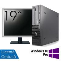 Pachet Calculator Fujitsu Esprimo E500 Desktop, Intel Core i7-2600 3.40GHz, 4GB DDR3, 320GB SATA, DVD-ROM + Monitor 19 Inch + Windows 10 Pro