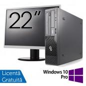 Pachet Calculator Fujitsu Esprimo E500 Desktop, Intel Core i7-2600 3.40GHz, 4GB DDR3, 320GB SATA, DVD-ROM + Monitor 22 Inch + Windows 10 Pro, Refurbished Oferte Pachete IT