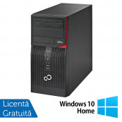 Calculator Fujitsu Siemens P556 Tower, Intel Core i3-6100 3.70GHz, 8GB DDR4, 500GB SATA, DVD-RW + Windows 10 Home, Refurbished Calculatoare Refurbished