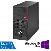 Calculator Fujitsu Siemens P556 Tower, Intel Pentium G4500 3.50GHz, 4GB DDR4, 500GB SATA, DVD-RW + Windows 10 Pro, Refurbished Calculatoare Refurbished
