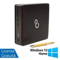 Calculator Fujitsu Esprimo Q520 USFF, Intel Core i3-4160T 3.10GHz, 4GB DDR3, 500GB SATA, DVD-RW + Windows 10 Home