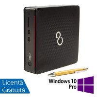 Calculator Fujitsu Esprimo Q520 USFF, Intel Core i3-4160T 3.10GHz, 4GB DDR3, 500GB SATA, DVD-RW + Windows 10 Pro