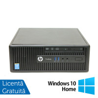 Calculator HP 400 G2.5 SFF, Intel Celeron G1850 2.90GHz, 4GB DDR3, 500GB SATA, DVD-RW + Windows 10 Home