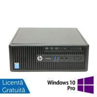 Calculator HP 400 G2.5 SFF, Intel Celeron G1850 2.90GHz, 4GB DDR3, 500GB SATA, DVD-RW + Windows 10 Pro