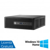 Calculator HP 400 G3 SFF, Intel Core i3-6100 3.70GHz, 8GB DDR4, 120GB SSD, DVD-RW + Windows 10 Home, Refurbished Calculatoare Refurbished