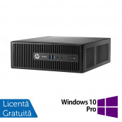 Calculator HP 400 G3 SFF, Intel Core i3-6100 3.70GHz, 8GB DDR4, 120GB SSD, DVD-RW + Windows 10 Pro, Refurbished Calculatoare Refurbished