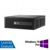 Calculator HP 400 G3 SFF, Intel Core i3-6100 3.70GHz, 4GB DDR4, 500GB SATA, DVD-RW + Windows 10 Pro, Refurbished Calculatoare Refurbished