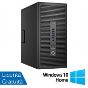 Calculator HP Prodesk 600 G2 Tower, Intel Celeron G3900 2.80GHz, 4GB DDR3, 500GB SATA, DVD-RW + Windows 10 Home, Refurbished Calculatoare Refurbished