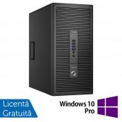 Calculator HP Prodesk 600 G2 Tower, Intel Celeron G3900 2.80GHz, 4GB DDR3, 500GB SATA, DVD-RW + Windows 10 Pro, Refurbished Calculatoare Refurbished