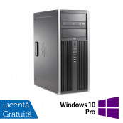 Calculator HP 6200 Pro Mt Tower, Intel Core i3-2100 3.10GHz, 4GB DDR3, 500GB SATA, DVD-ROM + Windows 10 Pro Calculatoare Refurbished