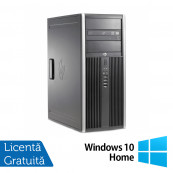 Calculator HP 6200 Pro Mt Tower, Intel Core i3-2100 3.10GHz, 4GB DDR3, 250GB SATA, DVD-ROM + Windows 10 Home, Refurbished Calculatoare Refurbished