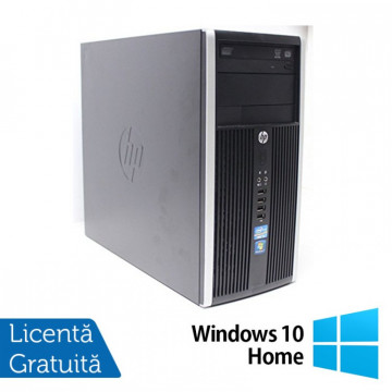 Calculator HP 6200 PRO Tower, Intel Core i5-2400 3.10 Ghz, 8GB DDR3, 500GB SATA, DVD-RW + Windows 10 Home Calculatoare Refurbished