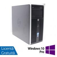 Calculator HP 6300 Pro Tower, Intel Pentium G2020 2.90GHz, 4GB DDR3, 250GB SATA, DVD-RW + Windows 10 Pro