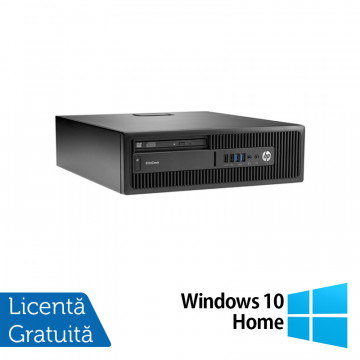 Calculator HP Elitedesk 705 G2 SFF, AMD A10-8700P 1.80GHz, 4GB DDR3, 120GB SSD, DVD-RW + Windows 10 Home, Refurbished Calculatoare Refurbished