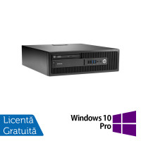 Calculator HP Elitedesk 705 G2 SFF, AMD A10-8700P 1.80GHz, 4GB DDR3, 120GB SSD, DVD-RW + Windows 10 Pro