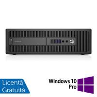 Calculator HP 800 G1 SFF, Intel Core i3-4130 3.40GHz, 8GB DDR3, 500GB SATA + Windows 10 Pro
