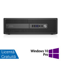 Calculator HP 800 G1 SFF, Intel Core i7-4770 3.40GHz, 8GB DDR3, 120GB SSD + Windows 10 Pro