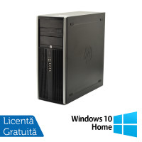 Calculator HP Elite 8100 Tower, Intel Core i5-650 3.20GHz, 4GB DDR3, 250GB SATA, DVD-RW + Windows 10 Home