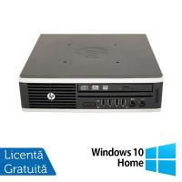 Calculator HP 8200 Elite USFF, Intel Core i5-2500 3.30GHz, 4GB DDR3, 250GB SATA + Windows 10 Home