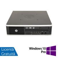 Calculator HP 8200 Elite USFF, Intel Core i5-2500 3.30GHz, 4GB DDR3, 250GB SATA + Windows 10 Pro