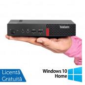 Calculator Lenovo M910 Mini PC, Intel Core i5-7500T 2.70GHz, 8GB DDR4, 120GB SSD + Windows 10 Home, Refurbished Calculatoare Refurbished