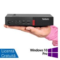 Calculator Lenovo ThinkCentre M710 Mini PC, Intel Core i3-7100 3.90GHz, 8GB DDR4, 120GB SSD + Windows 10 Pro