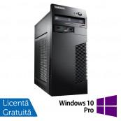 Calculator Lenovo M79 Tower, AMD A4-6300B 3.70GHz, 4GB DDR3, 250GB SATA, DVD-RW + Windows 10 Pro, Refurbished Calculatoare Refurbished
