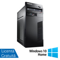 Calculator Lenovo ThinkCentre M71e Tower, Intel Core i5-2400 3.10GHz, 8GB DDR3, 120GB SSD + 500GB HDD, Placa video Gaming AMD Radeon R7 350 4GB, DVD-ROM + Windows 10 Home