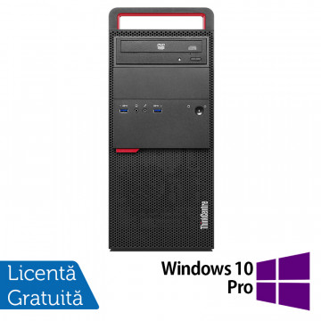 Calculator LENOVO M800 Tower, Intel Core i5-6500 3.20GHz, 4GB DDR4, 120GB SSD, DVD-RW + Windows 10 Pro, Refurbished Calculatoare Refurbished