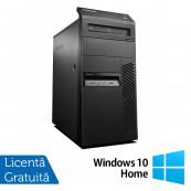 Calculator Lenovo Thinkcentre M83 Tower, Intel Core i3-4130 3.40GHz, 4GB DDR3, 250GB SATA, DVD-ROM + Windows 10 Home, Refurbished Calculatoare Refurbished