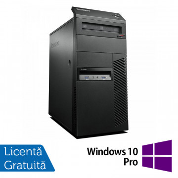 Calculator Lenovo Thinkcentre M83 Tower, Intel Core i3-4130 3.40GHz, 4GB DDR3, 250GB SATA, DVD-ROM + Windows 10 Pro, Refurbished Calculatoare Refurbished