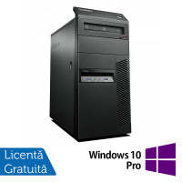 Calculator Lenovo Thinkcentre M83 Tower, Intel Core i7-4770 3.40GHz, 8GB DDR3, 120GB SSD, DVD-ROM + Windows 10 Pro