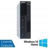 Calculator Lenovo ThinkCentre M90 USDT, Intel Core i3-550 3.20GHz, 4GB DDR3, 160GB SATA, DVD-ROM + Windows 10 Home, Refurbished Calculatoare Refurbished