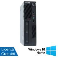 Calculator Lenovo ThinkCentre M90 USDT, Intel Core i3-550 3.20GHz, 4GB DDR3, 500GB SATA, DVD-ROM + Windows 10 Home
