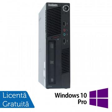Calculator Lenovo ThinkCentre M90 USDT, Intel Core i3-550 3.20GHz, 4GB DDR3, 500GB SATA, DVD-ROM + Windows 10 Pro, Refurbished Calculatoare Refurbished