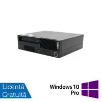 Calculator LENOVO Thinkcentre M91 USFF, Intel Core i3-2100 3.10GHz, 4GB DDR3, 500GB SATA + Windows 10 Pro