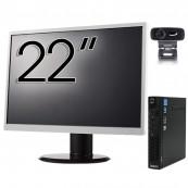 Pachet Calculator Lenovo ThinkCentre M92p Mini PC, Intel Core i5-3470T 2.90GHz, 4GB DDR3, 500GB SATA + Monitor 22 Inch + Webcam + Tastatura si Mouse, Second Hand Solutii de lucru pentru acasa sau scoala