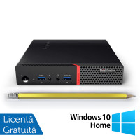 Calculator Mini PC Lenovo ThinkCentre M700, Intel Core i3-6100T 3.20GHz, 8GB DDR4, 120GB SSD + Windows 10 Home