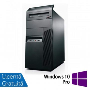 Calculator Lenovo Thinkcentre M82 Tower, Intel Core i3-2100 3.10GHz, 4GB DDR3, 500GB SATA, DVD-RW + Windows 10 Pro, Refurbished Calculatoare Refurbished