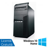 Calculator Lenovo Thinkcentre M82 Tower, Intel Core i3-3220 3.30GHz, 4GB DDR3, 500GB SATA, DVD-RW + Windows 10 Home