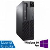 Calculator Lenovo Thinkcentre M83 SFF, Intel Pentium G3220 3.00GHz, 4GB DDR3, 250GB SATA, DVD-ROM + Windows 10 Pro, Refurbished Intel Pentium G