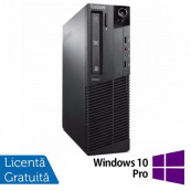 Calculator Lenovo Thinkcentre M83 SFF, Intel Pentium G3220 3.00GHz, 4GB DDR3, 250GB SATA + Windows 10 Pro, Refurbished Intel Pentium G