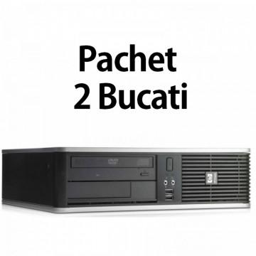 Pachet 2 Bucati - Calculator Second Hand HP DC7900 SFF, Intel Core 2 Duo E7500 2.93GHz, 4GB DDR2, 160GB SATA, DVD-ROM Calculatoare Second Hand
