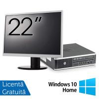 Pachet Calculator HP 8300 USDT, Intel Core i3-3220 3.30GHz, 4GB DDR3, 500GB SATA, DVD-RW + Monitor 22 Inch + Windows 10 Home