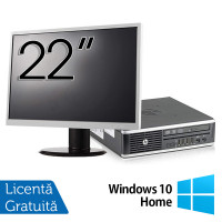 Pachet Calculator HP 8300 USDT, Intel Core i3-3220 3.30GHz, 8GB DDR3, 120GB SSD, DVD-RW + Monitor 22 Inch + Windows 10 Home