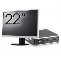 Pachet Calculator HP 8300 USDT, Intel Core i3-3220 3.30GHz, 8GB DDR3, 500GB SATA, DVD-RW + Monitor 22 Inch