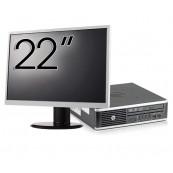Pachet Calculator HP 8300 USDT, Intel Core i5-3470S 2.90GHz, 8GB DDR3, 120GB SSD, DVD-RW + Monitor 22 Inch, Second Hand Solutii de lucru pentru acasa sau scoala